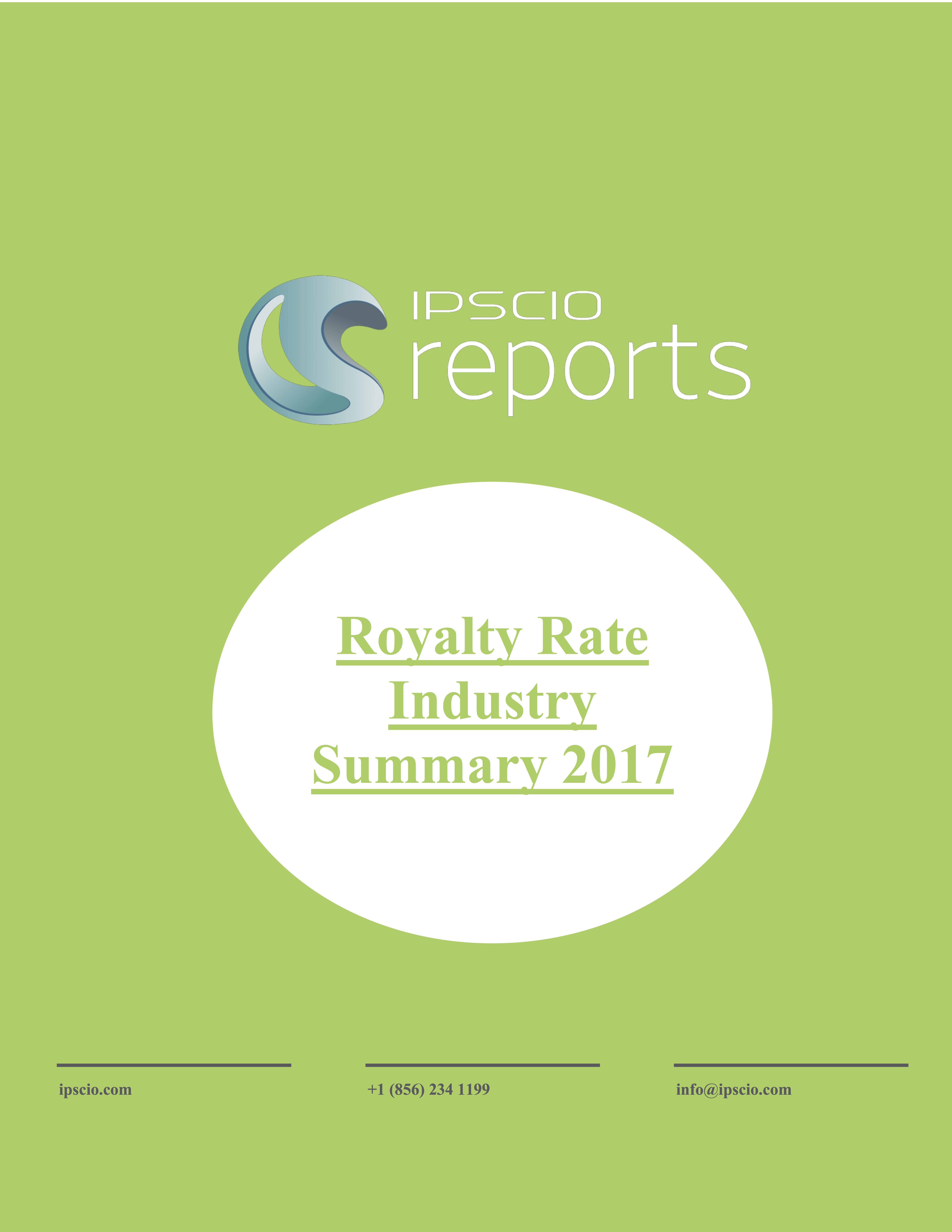 Royalty Rate Industry Summary 2017